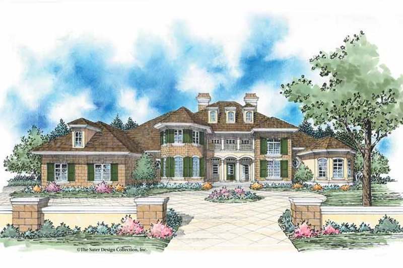 European Exterior - Front Elevation Plan #930-348 - Houseplans.com