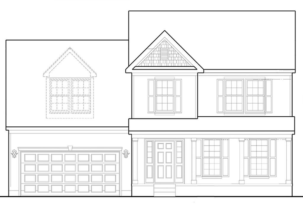 Elevation Plan Template : Colonial front elevation house coloring pages