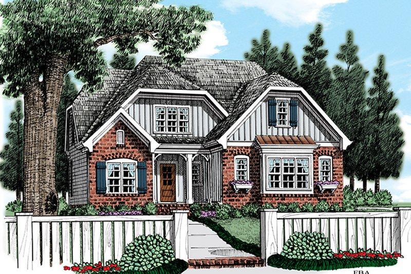 House Plan Design - Cottage Exterior - Front Elevation Plan #927-972