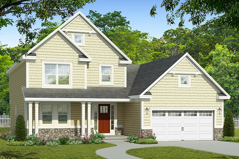 Colonial Exterior - Front Elevation Plan #1010-182