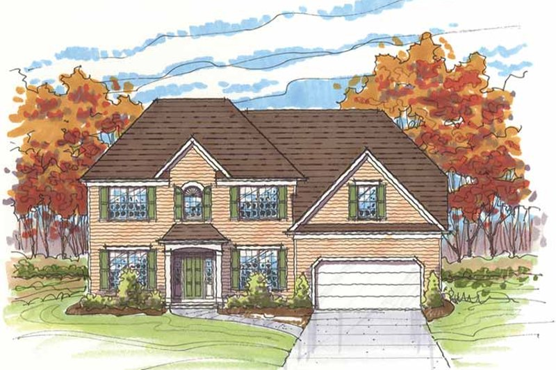 Traditional Exterior - Front Elevation Plan #435-23 - Houseplans.com