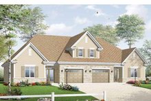 Dream House Plan - European Exterior - Front Elevation Plan #23-2453
