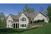 Craftsman Style House Plan - 4 Beds 3 Baths 3945 Sq/Ft Plan #928-207 Exterior - Rear Elevation
