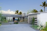 Contemporary Style House Plan - 3 Beds 3 Baths 1350 Sq/Ft Plan #484-12 Exterior - Front Elevation