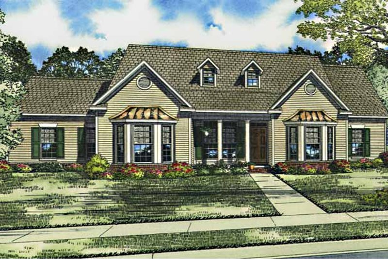 Ranch Exterior - Front Elevation Plan #17-3014 - Houseplans.com