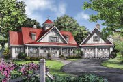 Country Style House Plan - 2 Beds 3 Baths 2018 Sq/Ft Plan #929-807 Exterior - Front Elevation