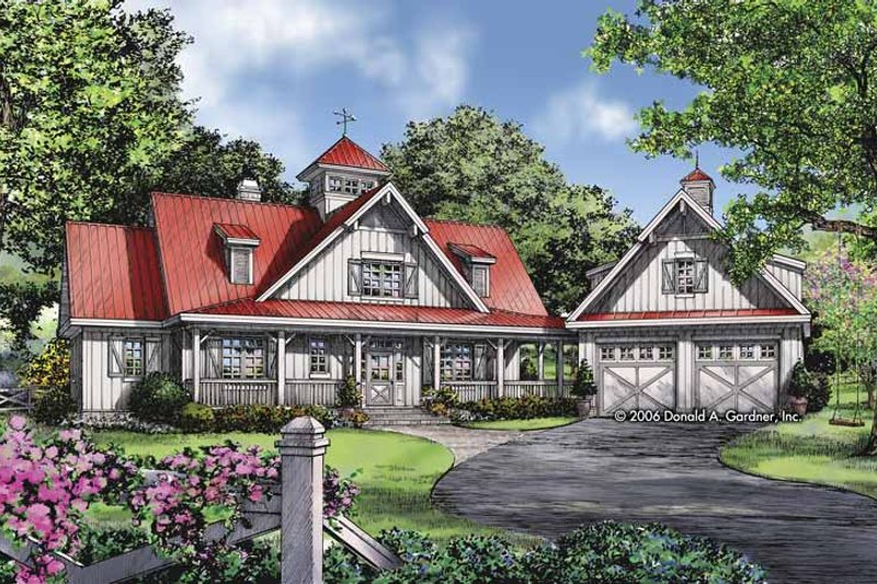 Country Exterior - Front Elevation Plan #929-807 - Houseplans.com