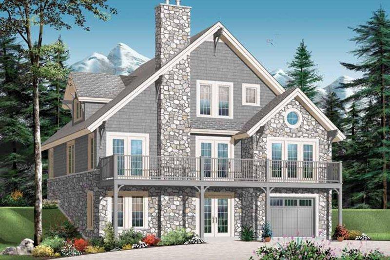 European Exterior - Front Elevation Plan #23-2423 - Houseplans.com