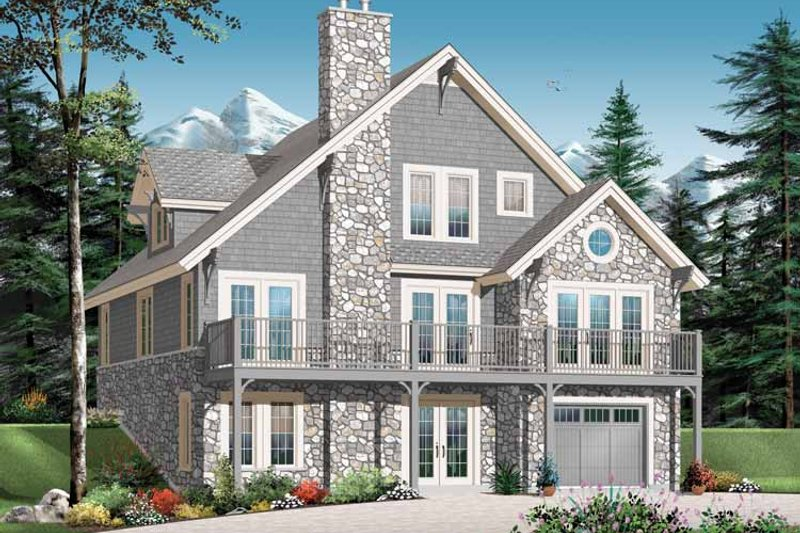Architectural House Design - European Exterior - Front Elevation Plan #23-2423