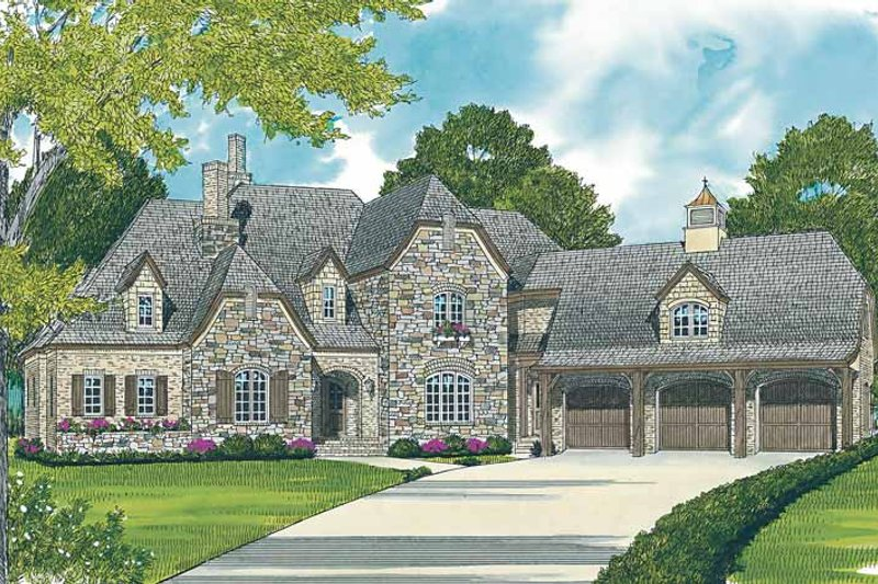 House Plan Design - Country Exterior - Front Elevation Plan #453-465