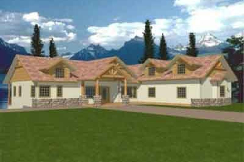 Traditional Exterior - Front Elevation Plan #117-237 - Houseplans.com