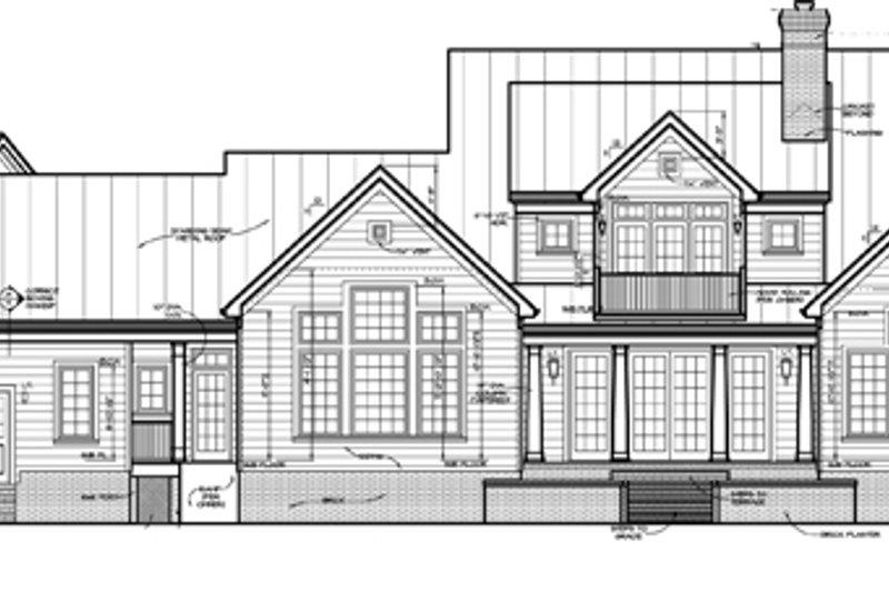 Classical Exterior - Rear Elevation Plan #453-332 - Houseplans.com