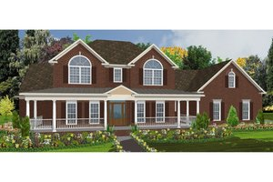 Traditional Exterior - Front Elevation Plan #63-209