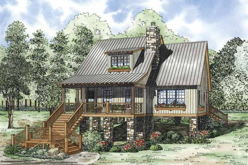 Mediterranean Exterior - Front Elevation Plan #17-3307