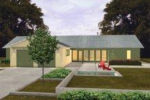 House Plan Design - Ranch Exterior - Front Elevation Plan #445-5