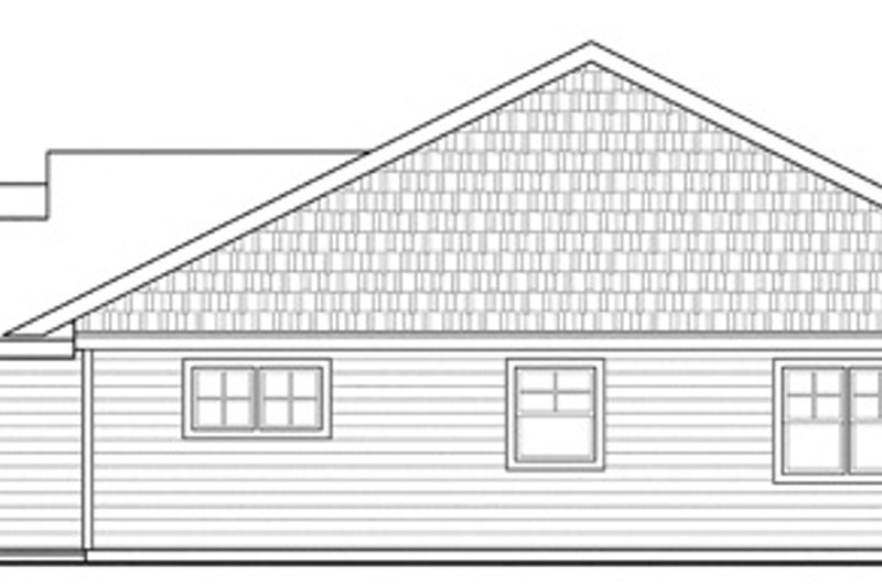 Ranch Exterior - Other Elevation Plan #124-855 - Houseplans.com