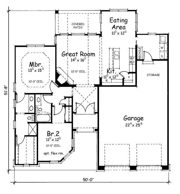 European Floor Plan - Main Floor Plan Plan #20-1395