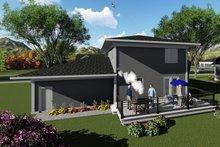 House Plan Design - Modern Exterior - Rear Elevation Plan #70-1413