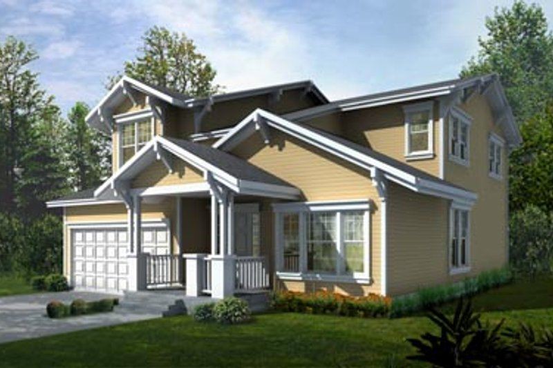 Bungalow Exterior - Front Elevation Plan #94-206 - Houseplans.com