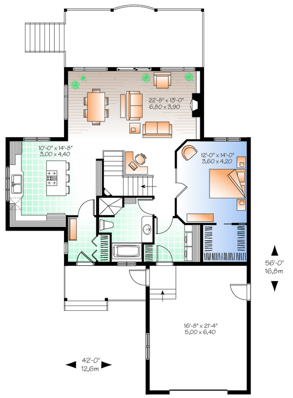 Cottage Floor Plan - Main Floor Plan Plan #23-2318