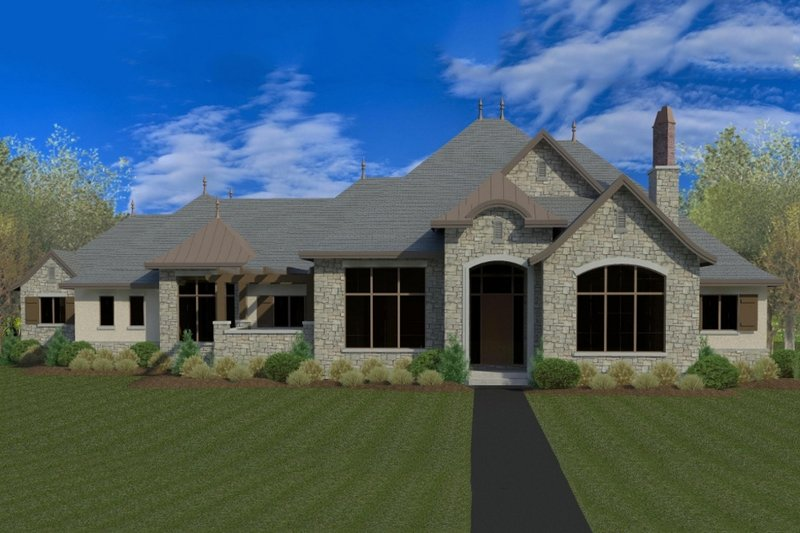 Architectural House Design - European Exterior - Front Elevation Plan #920-64