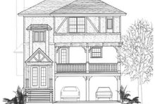 Tudor Exterior - Front Elevation Plan #14-254