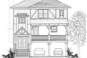 Architectural House Design - Tudor Exterior - Front Elevation Plan #14-254