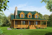 Country Exterior - Front Elevation Plan #932-43