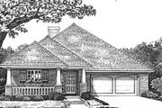 Southern Style House Plan - 3 Beds 2 Baths 1697 Sq/Ft Plan #310-574 Exterior - Front Elevation
