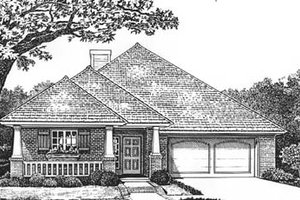 Southern Exterior - Front Elevation Plan #310-574
