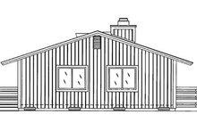 Cabin Exterior - Rear Elevation Plan #320-404