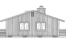 House Plan Design - Cabin Exterior - Rear Elevation Plan #320-404