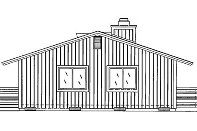 Cabin Exterior - Rear Elevation Plan #320-404 - Houseplans.com
