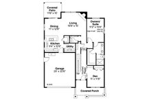 Bungalow Floor Plan - Main Floor Plan Plan #124-1028