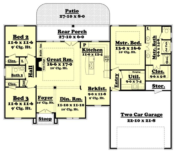 House Plan Design - European Floor Plan - Main Floor Plan #430-52