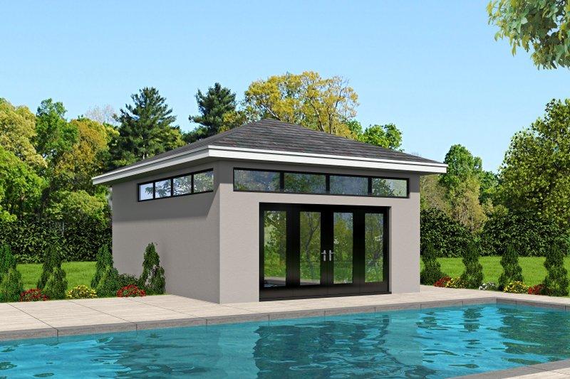 Architectural House Design - Modern Exterior - Front Elevation Plan #932-182