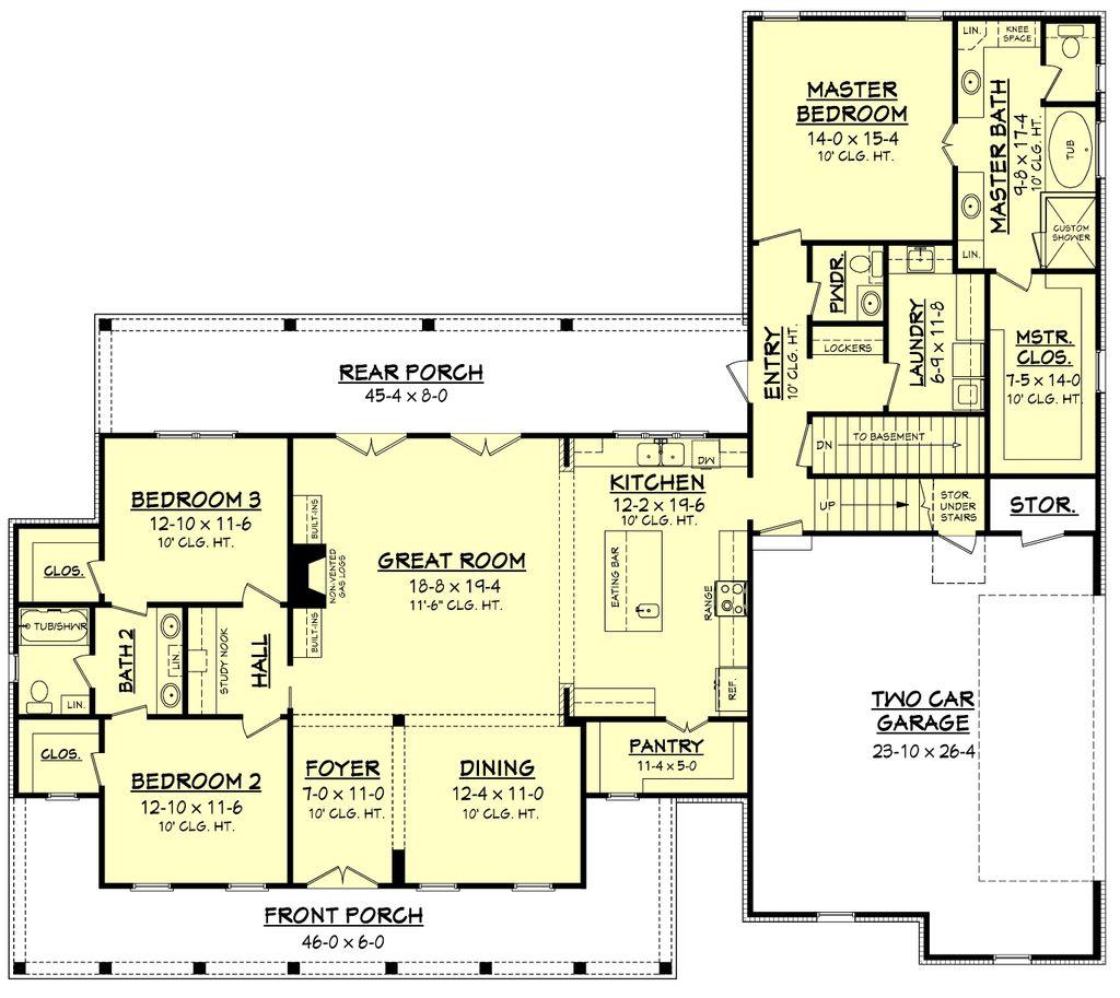 Farmhouse Style House Plan 3 Beds 2 5
