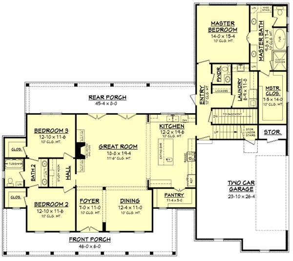 Dream House Plan - Optional Basement Stair Location