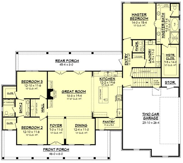 House Plan Design - Optional Basement Stair Location