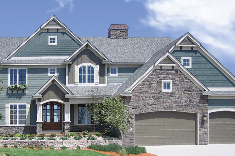 Architectural House Design - Traditional Exterior - Front Elevation Plan #320-990