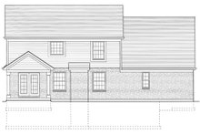 Craftsman Exterior - Rear Elevation Plan #46-290
