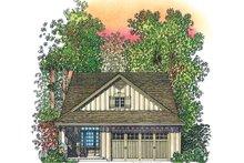 Architectural House Design - Adobe / Southwestern Exterior - Front Elevation Plan #1016-111