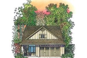 House Design - Adobe / Southwestern Exterior - Front Elevation Plan #1016-111