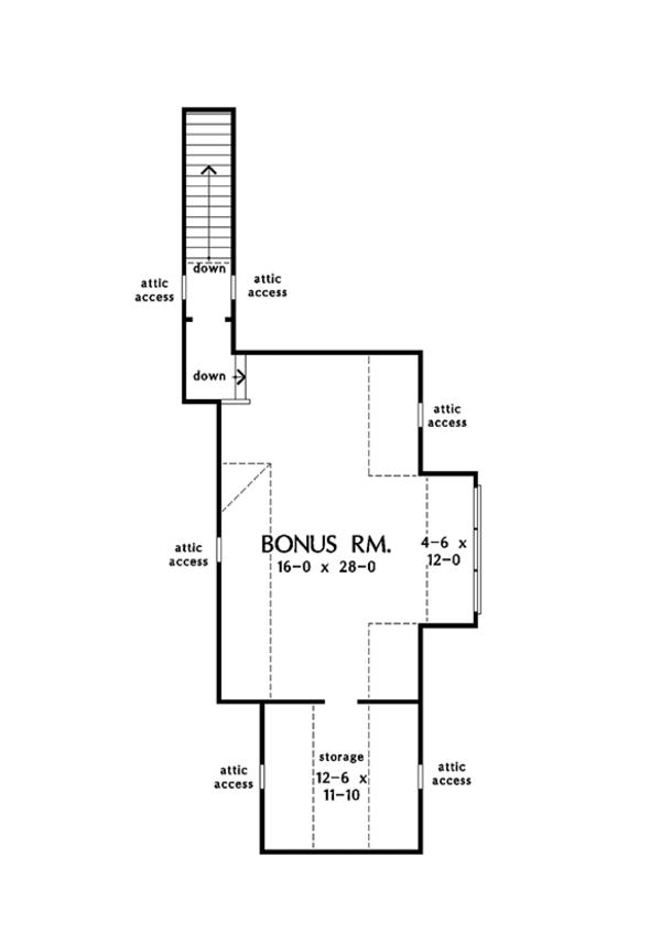 European Floor Plan - Other Floor Plan Plan #929-1020