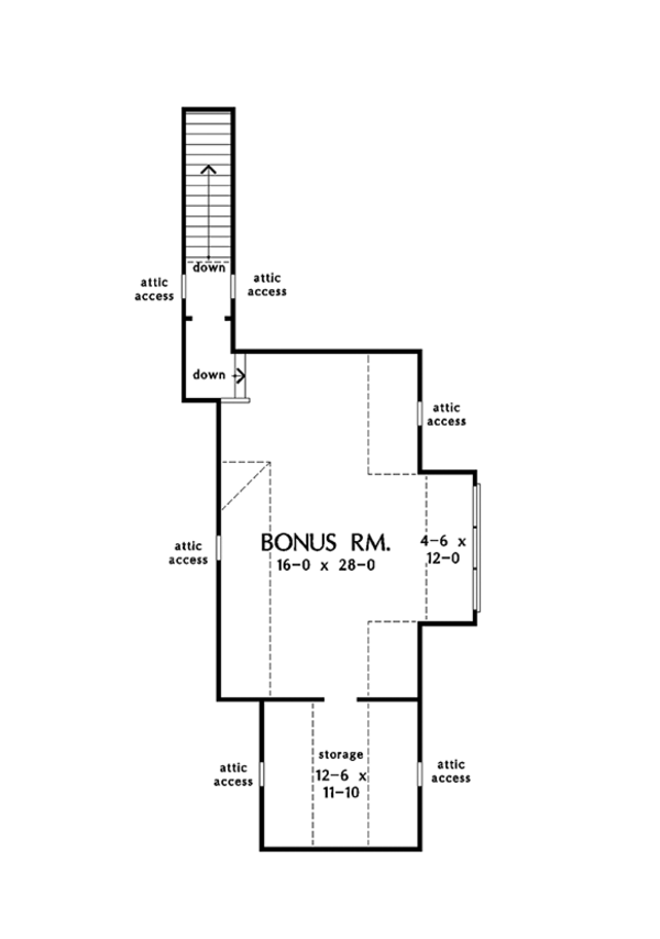 European Floor Plan - Other Floor Plan Plan #929-1020