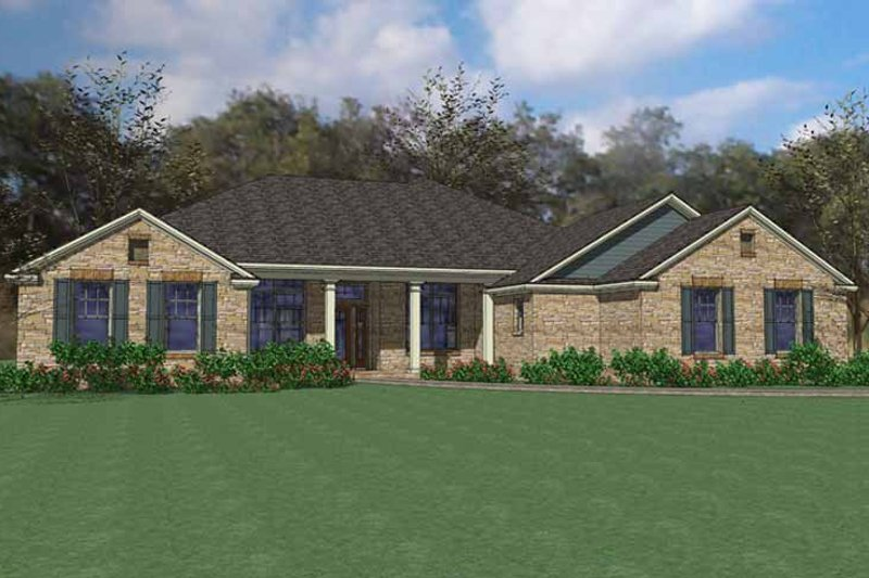 Traditional Exterior - Front Elevation Plan #120-229