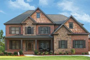 Dream House Plan - Craftsman Exterior - Front Elevation Plan #54-231