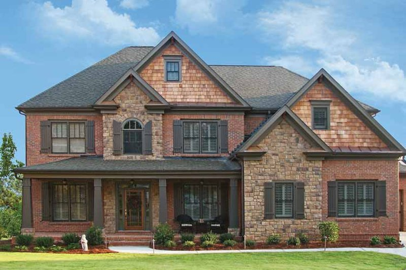 Architectural House Design - Craftsman Exterior - Front Elevation Plan #54-231