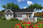 Ranch Style House Plan - 2 Beds 2 Baths 1588 Sq/Ft Plan #70-1264 Exterior - Rear Elevation