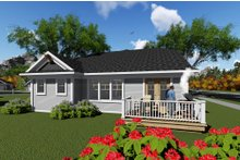 Ranch Exterior - Rear Elevation Plan #70-1264